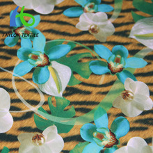 super hot lycra fans floral style print swimwear fabric from Chinese manufacturer
