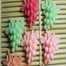 wholesale newest fashion cell phone sticker Clip hair bands DIY Resin grapes sticker