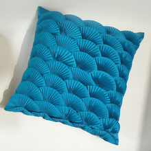 Folding fan high-temperature compression pleated pure hand decorative arts cushions pillow