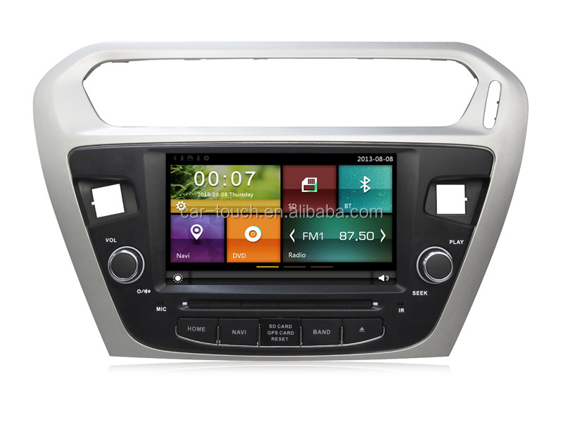 Car DVD with Touch Screen for PEUGEOT 301 with GPS Navigation 3G Wifi BT Radio Free Map