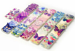 3D butterfly TPU case for iphone 4, for iphone 5 butterfly IMD cover case