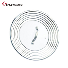 Universal Lid , Hot Sale Stainless Steel <strong>Flat</strong> Wok Glass Lid For Wok,Square Fry Pan Lid