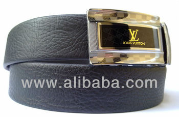 Source Mens Black Leather Belt Magnetic Auto Lock Buckle