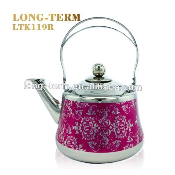 LTK119R Red Stainless Steel Tea Pot