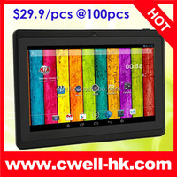 Boxchip Q8H WiFi Allwinner A33 Tablet PC Quad Core Android 4.4 Kitkat 7 Inch Screen Dual Cameras 4GB ROM Good Price