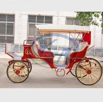 Yizhinuo red sightseeing horse drawn carriage Carruaje de caballos