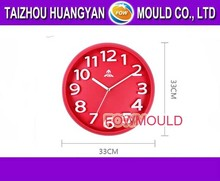 OEM custom injection wall clock mold manufacturer