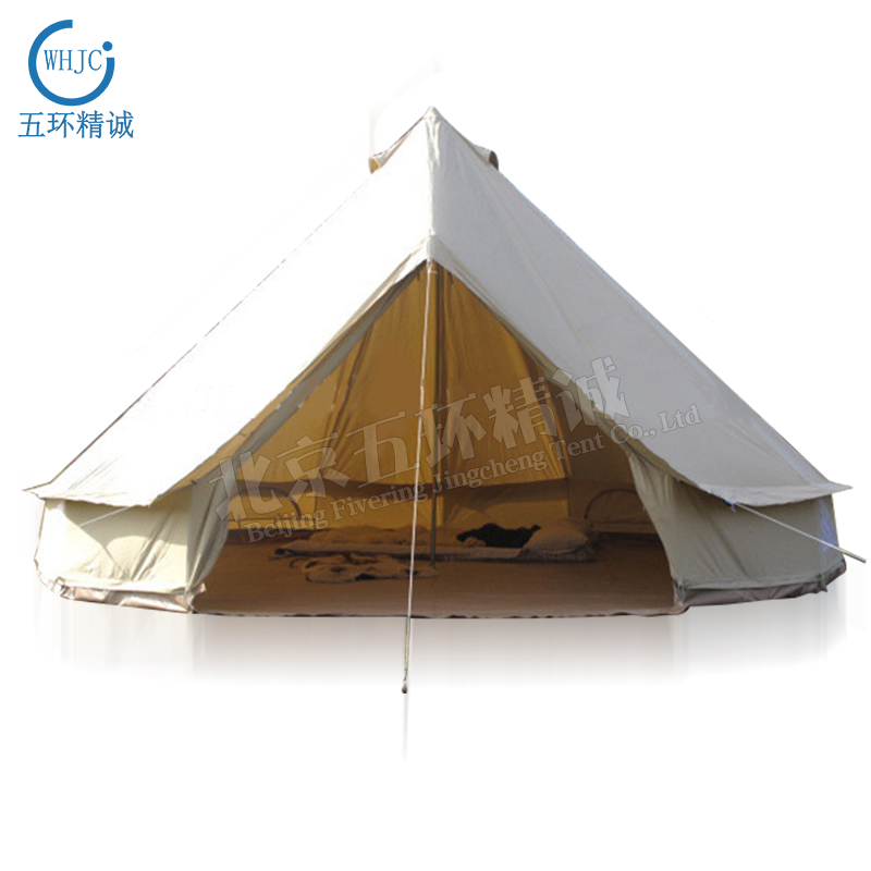 White Canvas Relief Bell Tent For for Emergency Shelter Disaster Relief & Camping