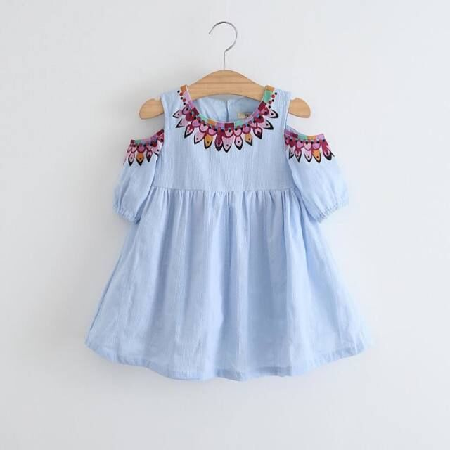 fashion wholesale latest party wear dresses 2 year old baby kid girls casual dress