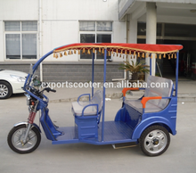 4 Battery 48V 850W passenger auto electric rickshaw tricycles