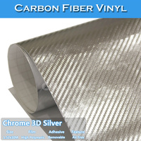 Chrome 3D Carbon Fiber Car Wrap Vinyl Folie