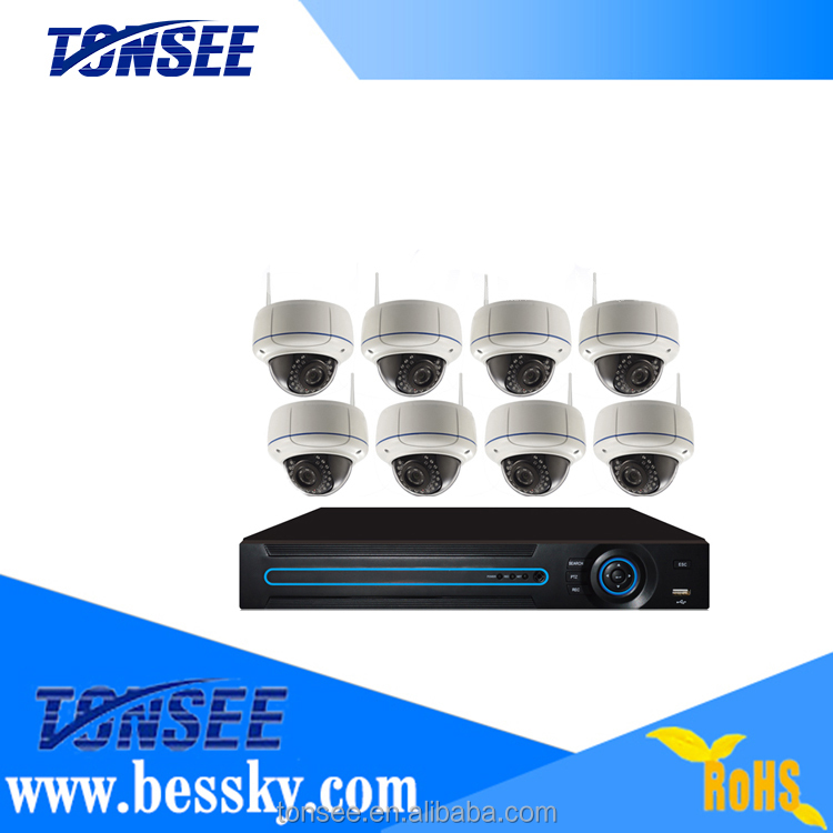 1080P <strong>wifi</strong> 8ch ip camera NVR kits outdoor home security <strong>wifi</strong> cctv system
