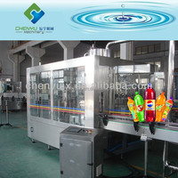 Automatic PET Bottle Carbonated Water Filling Plant / Carbonated Drink Bottling Machine