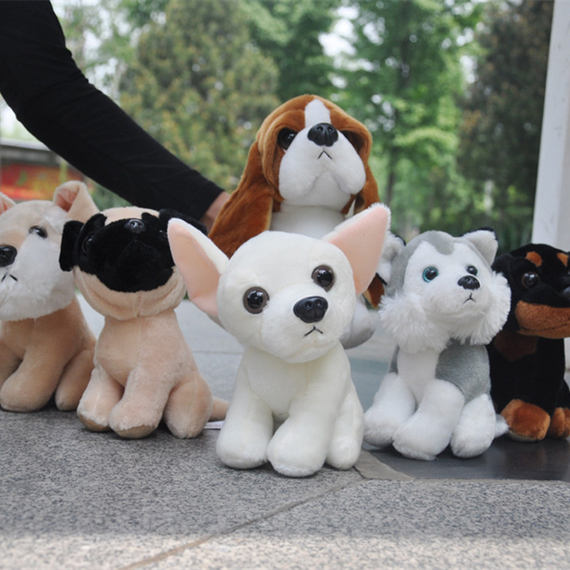 Wow!! 18cm Super Cute 8 Kinds Of Puppy Plush Toys Little Dogs Stuffed Doll Children Birthday Christmas Gifts