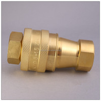 "Brass 3/4"" Close Type hydraulic quick disconnect Hose coupling"