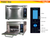 CE-approved fast automatic cooking/roasting/toasting/grilling oven for restaurant