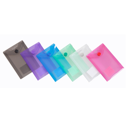 custom transparent mini clear wallet / button file folder bag