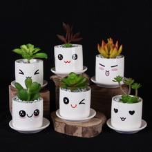 Corrosion Resistance Garden Cartoon Emoji Creative Ceramics Flower Pot