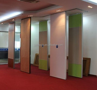solid/MDF/glass Office partition wood room divider sliding/folding movable partitions for restaurant/ lecture hall