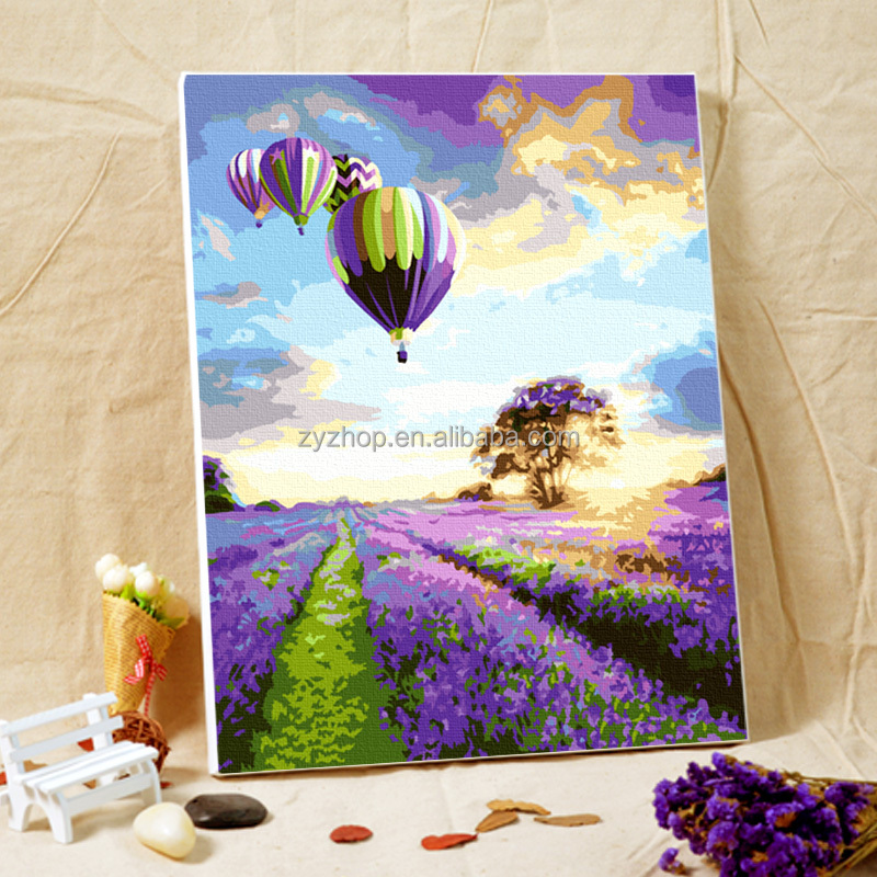 Free Mind Free Painting beautiful landscape oil painting diy paint set by numbers