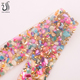 SS12 Colorful Resin Stones Natural Stones Hotfix Rhinestone Mesh Trimming for Phone Shoe Decoration