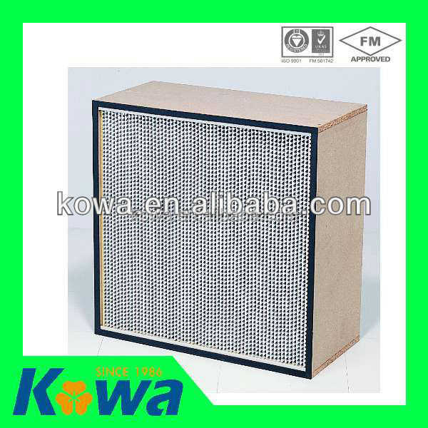 air filter industrial chinese supplier factory price Box Type filter separator H14 hepa air filter