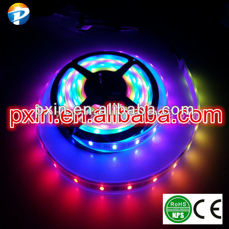 2014 newest-design kia rio accessories ws2811 5050smd 30leds/m 10w/m IP67 waterproof flexible dream color led strip
