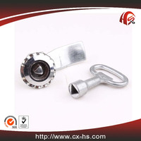 HS371 zinc alloy die-cast housing and cylinder hardware assembly metal lock for electric cabinet