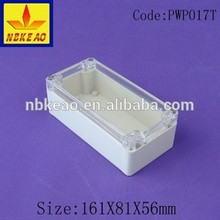 plastic waterproof enclosure with transparent cover & IP66 protection level junction box