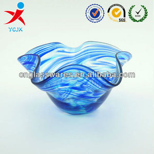 mouth blown glass vase /colored murano glass flower vase