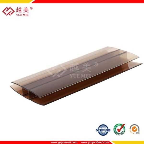 Grade A Polycarbonate Profile polycarbonate sheet pc connector H and U profile