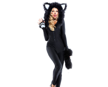 2017 black catwoman warm sexy halloween costumes for woman