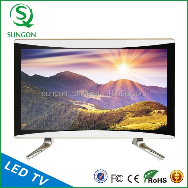 OEM accepted 24 inch UHD Smart led TV 4k Curved
