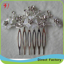 Wholesale silver cheap crystal tiara bridal wedding hair comb