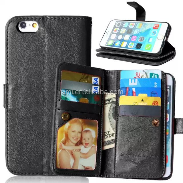 Cheap But Luxury Wallet Style PU Design Mobile phone case maker