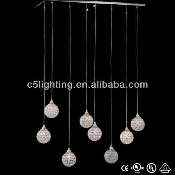 2014 new silver ball modern pendant light