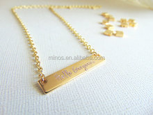 Hello Gorgeous Necklace,personalized Custom Jewelry,Bar Pendant Simple Collar Necklace