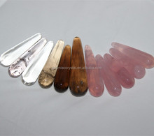 Wholesale price natural rock quartz rose crystal massage wands