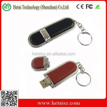 Promotional leather bulk 4gb usb flash drives grade A usb flash memory stick with custom logo