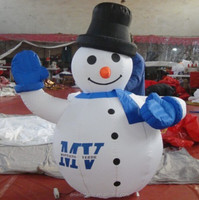 cute inflatable Christmas snowmen