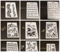 letter drawing setncil, paper stencil, plastic art sencil for children