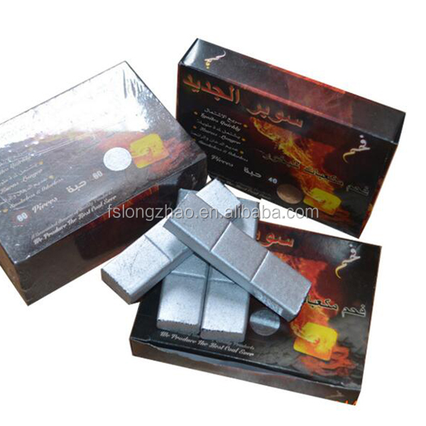 No flavor long burning time silver coconut coal for hookah