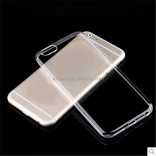 China manufacture soft thin clear transparent cover case for iphone 6 plus case