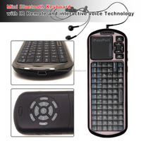 Mini Bluetooth touchpad Keyboard with IR Remote and interactive voice Technology for Iphone 6