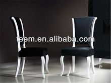 Chinese high end home furniture manufacturer dining room chairs black lacquer