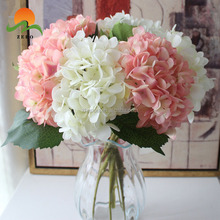 ZERO High Quality Single Stem Hydrangea Silk Flowers Artificial for Home/Wedding/Party Decoration