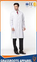MU0003 custom hospital doctors and nurses white cotton medical doctor gowns uniform china oem factory wholesale