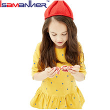 Hot sale little girls winter velvet party dress for 2-12 years old girls