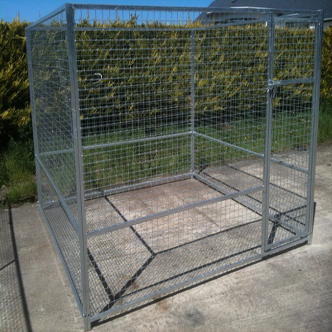 Factory Manufacturer Large Outdoor Galvanized Strong Steel Dog Kennel
