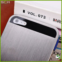 luxurious brushed case with flip cover for iphone 5